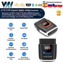 Viecar VP003 ELM327 Bluetooth 4.0 PIC18F25K80 Obd 2 OBD2 Wifi Elm 327 Scanner Auto Gereedschap ODB2 Auto Diagnostische Voor Android/Ios