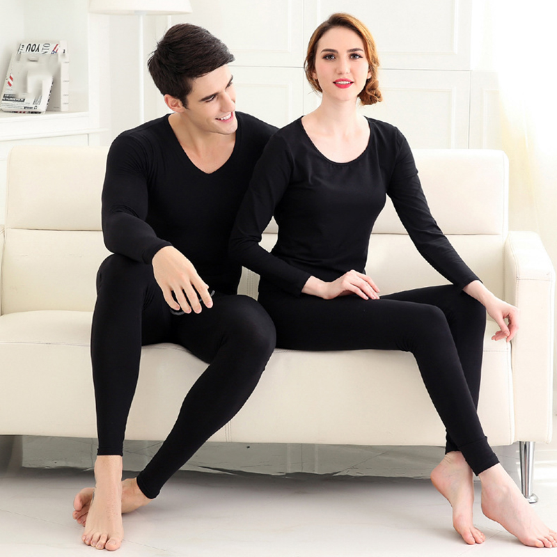 Women Men Seamless Elastic Thermal Underwear Inner Wear Winter Warm Clothes LF88