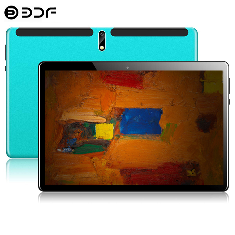 2.5D Steel Screen 10.1 Inch Tablet PC Android 9.0 8GB+128GB ROM Ten Core 4G Phone Call Bluetooth Wi-Fi New System Tablet +Keyboa