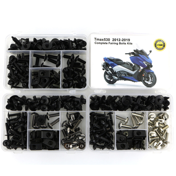 For Yamaha TMAX 530 TMAX530 2012-2019 Complete Full Fairing Bolts Kit Bodywork Screws Steel Clips Speed Nuts Covering Bolts for yamaha tmax 530 tmax530 2012 2019 complete full fairing bolts kit bodywork screws steel clips speed nuts covering bolts