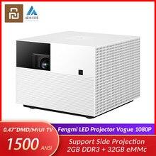 Youpin Fengmi-proyector Vogue 1080P, 1500 Lúmenes ANSI, cine en casa, 2GB + 32GB, Android, Wifi, MIUI, Proyección lateral de TV