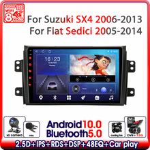 """9"""" Car Radio For Suzuki SX4 2006 2011 2012 2013 For Fiat Sedici 2005 2014 Android 10 Multimedia Video Player Navigation GPS 2din"""