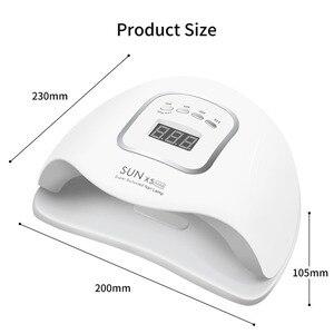 Image 5 - 90W LED 네일 램프 네일 건조기 듀얼 손 45 PCS LED UV 램프 치료 UV 젤 매니큐어 모션 감지 매니큐어 살롱 도구