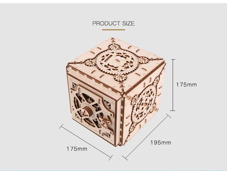 Uguter modelo mecânico de madeira 3d tridimensional