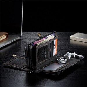 Image 5 - עור ארנק מקרה עבור iPhone 12 11 פרו XS Max XR X SE 2020 8 7 בתוספת ארנק כיסוי עבור סמסונג S20 הערה פה Ultra 20 A51 A71 Coque