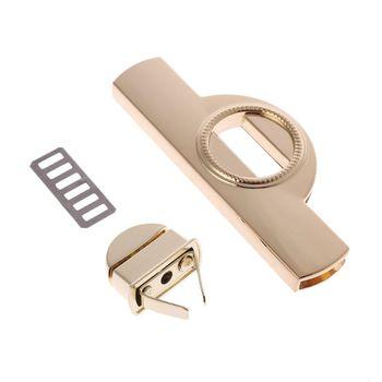 Metal Clasp Turn Lock Twist Locks for DIY Handbag Purse Craft Shoulder Bag Hardware Accessories 517D twist lock detail pu shoulder bag