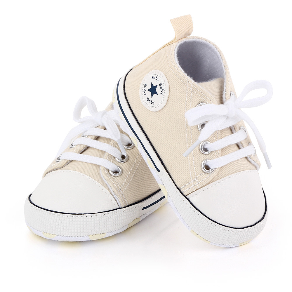 New Canvas Baby Sports Sneakers Shoes Newborn Baby Boys Girls First Walkers Shoes Infant Toddler Soft Sole Anti-slip Baby Shoes 3