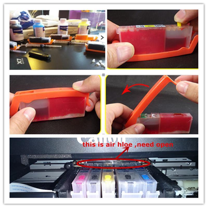Recharge PGI-580 cli 581 cartouche d'encre rechargeable vide puce permanente pour canon TS8150/TS8151/TS8152/TS8250/TS8251/TS9150/TS9155 - 6