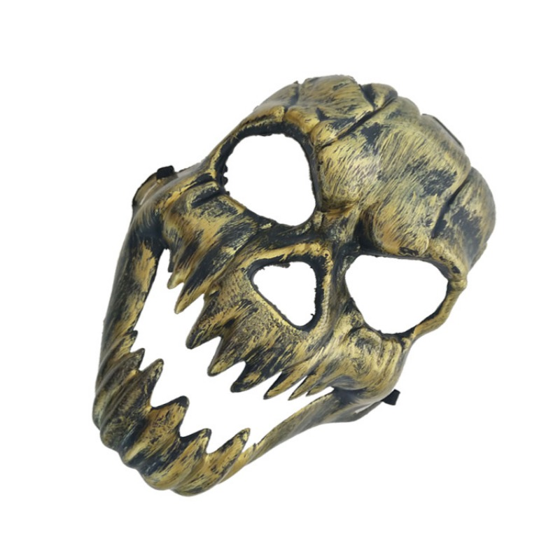 Halloween Metal Plastic Skull Mask Gold Silver High Quality Full Face Skull Mask Party Supplies Horror Props - 5