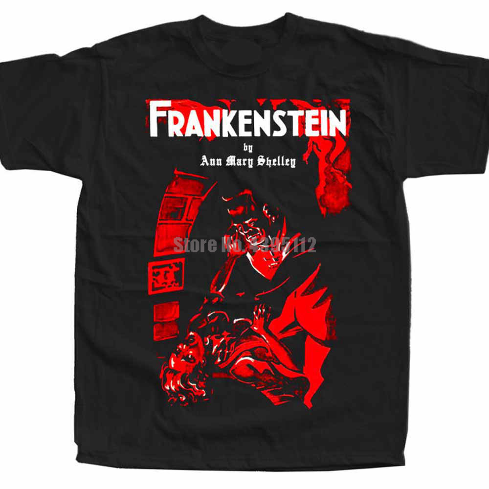 Frankenstein Movie Poster Man Cool Tshirts Fashions T-Shirts Fitness Shirt Gothic Shirts New For 2020 Vllnhy image