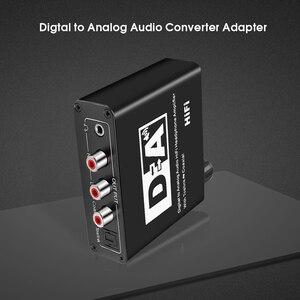 Image 5 - Caldecott DAC optyczny Toslink koncentryczny dwukierunkowy przełącznik RCA 3.5mm Jack cyfrowy na analogowy Adapter Audio konwerter