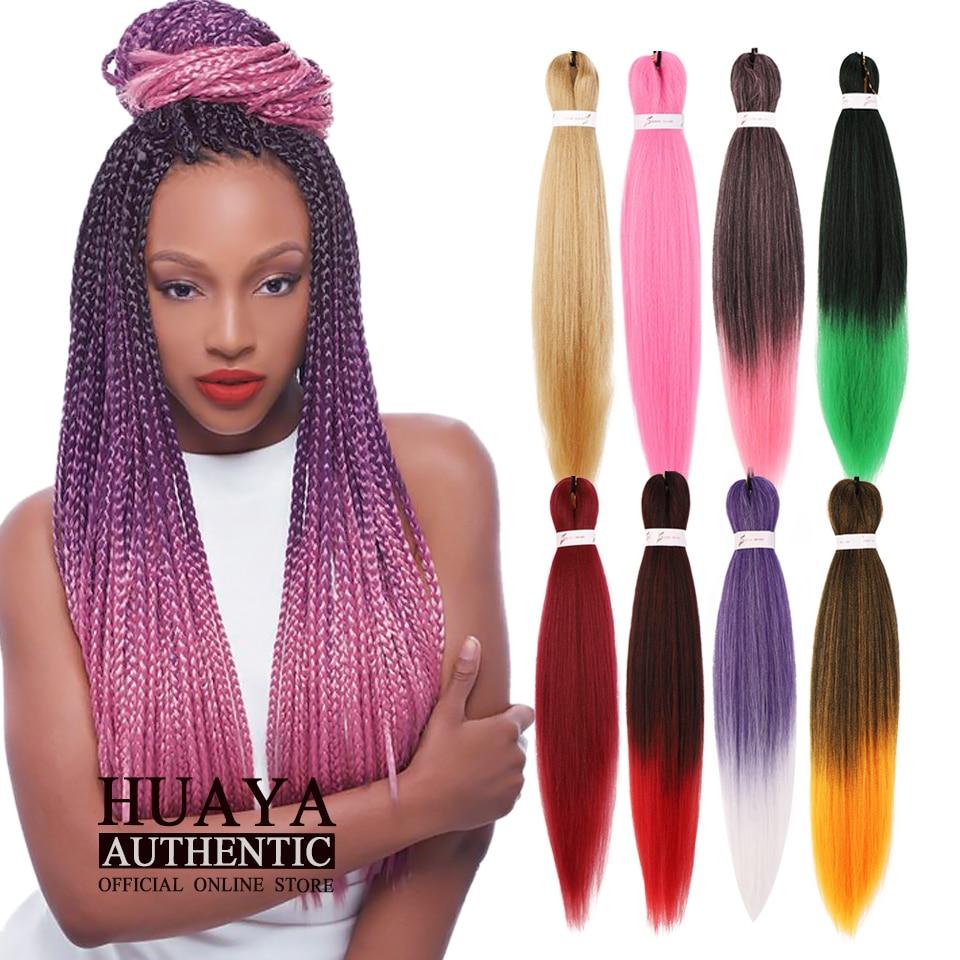 HUAYA Jumbo Braids Ombre Hair Synthetic Braiding Crochet Hair High Temperature Fiber Hair Braids Wigs 24 Inch Length