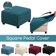 Chair-Covers Footstool Square Furniture-Protector-Covers Elastic Sofa