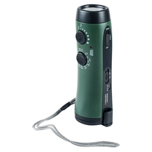 Hand Crank Flashlight Radio Emergency Cell Phone Charger Portable Super Bright 5 LED Built-in Loudspeaker