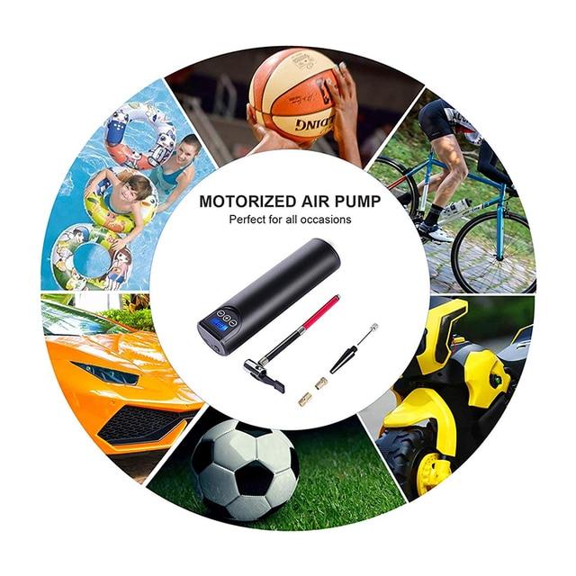 12v 150psi rechargeable air pump tire inflator – cordless portable compressor digital