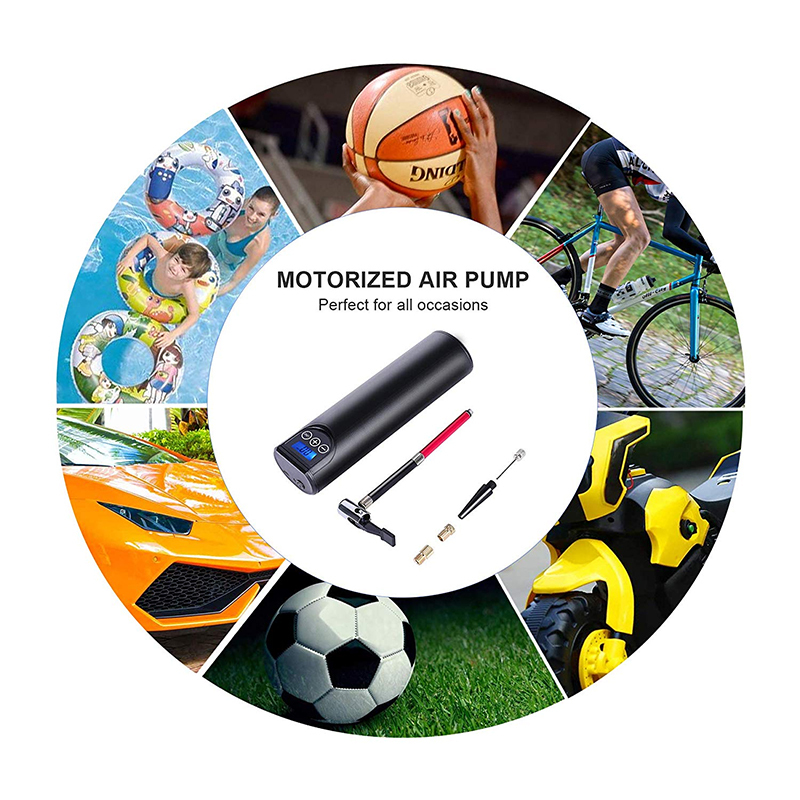 Portable Electric Air Pump Rechargeable 12V 150PSI for Car Bicycle Football Pump