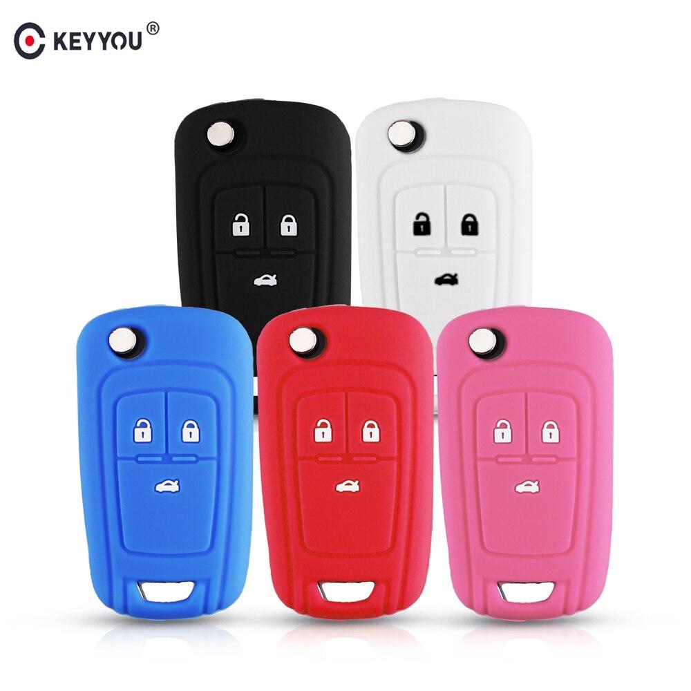 KEYYOU Silicone Remote Car Keys Cover Case For OPEL VAUXHALL Astra J Corsa E Insignia Zafira C For Chevrolet Cruze Aveo Lova