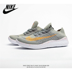 Nike Free Rn Flyknit Barefoot Series 3M Reflective Gypsophila Mesh Knit Breathable Lightweight Running Shoes Size 40-45