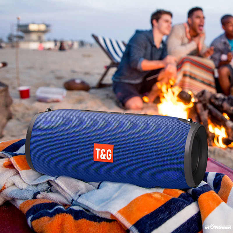 Altoparlante Colonna Altoparlante Senza Fili di Bluetooth della cassa di Risonanza Portatile 20W Stereo Bass Subwoofer FM Radio Boombox AUX USB Audio del PC Bar per il iPhone xiaomi