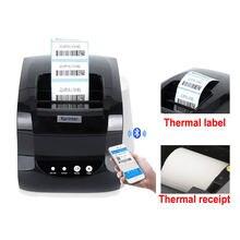 Impressora térmica térmica 58mm ou 80mm do recibo da impressora da etiqueta da impressora da etiqueta do código de barras de 127 mm/s porta usb 20mm-80mm