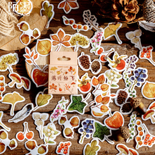 46Pcs/pack Falling Leaves Creative Fresh Diary Paper Label Sealing Stickers Crafts And Scrapbooking Decorative Stationery