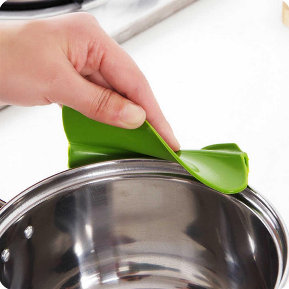 Quente criativo anti-derramamento de silicone deslizamento em despeje sopa bico funil para panelas panelas e tigelas e frascos acessórios de ferramenta de cozinha em casa