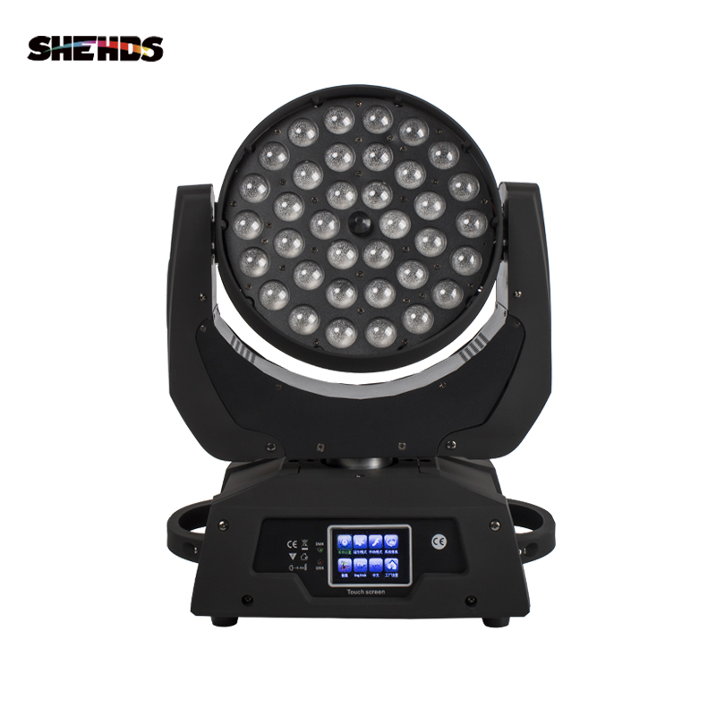 Touch Screen LED Wash Zoom 36x18W 6IN1 RGBWA+UV Color Moving Head DMX Powercon In And Out For DJ Disco Party Club Effect Light
