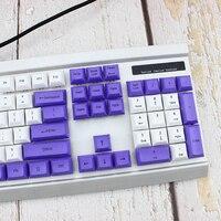 87 DSA Top Printed White Purple Keycaps Dye Sub Pbt Razer Gh60 Poker2 Xd64 87 104 Xd75 Xd96 Xd84 K70 Cherry Mechanical Keyboard (3)