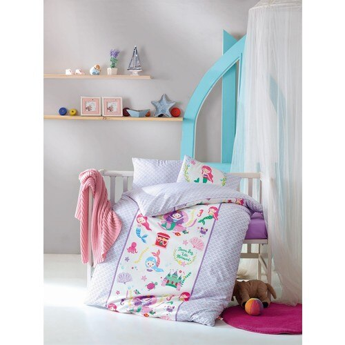 Baby bed Set 100 Cotton Mermaid Lilac