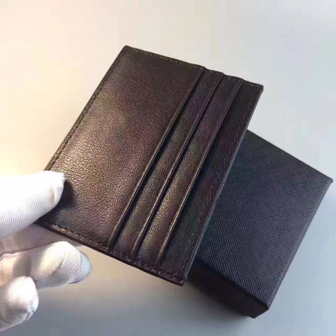 Brand Men Black Credit Bank Card Holder MB Wallet Genuine Leather Sport Gym Bags
