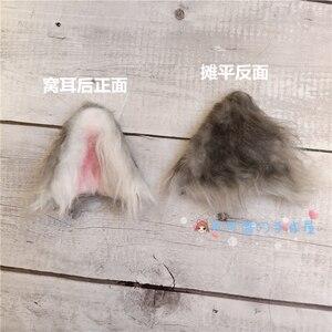 Image 3 - Cosplay hecho a mano de felpa, orejas de gato, orejas de perro, orejas de Lobo, horquilla de animal, madre, lolita