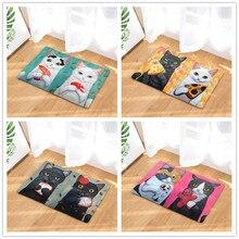 Doormat Carpets Couple Cats Print Mats Floor Kitchen Bathroom Rugs slogan print doormat