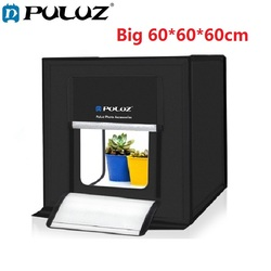 60*60cm Mini Folding Studio Diffuse Soft Box Lightbox Photostudio with LED Light Tabletop Shooting Photography Photo Studio Box