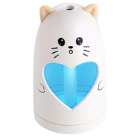 Mini Usb Cute Air Humidifier Silent Ultrasonic Diffuser Colorful Led Light For Home Office Car|Humidifiers| |  -