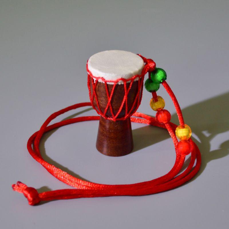 5 pièces Mini Jambe batteur individualité djembé pendentif Percussion Instrument de musique collier africain main tambour accessoires jouet