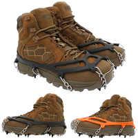 Schnee Nicht Slip Klettern Steigeisen Stollen Schuh Abdeckung Eis Greifer Für Spikes Wandern Winter Mangan Stahl Outdoor Stollen Überschuhe