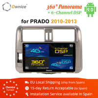 Ownice 8Core 4G DSP Android 9.0 Car Radio Player Navi FOR TOYOTA PRADO 2010 2011 2012 2013 2014 2016 DVD 360 Panorama Optical