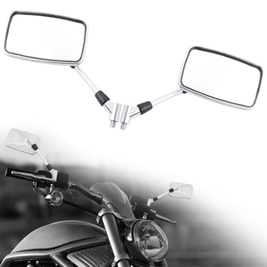 DERI 1Pair Rearview Mirror 10mm Handlebar Mount for Motorcycle Scooter Moped ATV Dirt Bike Rearview Mirrors Back Side for Moto(China)