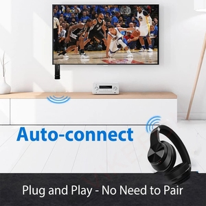 Image 5 - Bluetooth 5.0 + USB Máy Phát Âm Thanh Có Mic Aptx LL Độ Trễ Thấp Bass Sâu Tai Nghe Không Dây Tai Nghe Nhét Tai Dành Cho Tivi PS4 PC