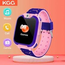 Smartwatch infantil com música, smartwatch à prova d água para crianças, sos, bebês e meninos e meninas