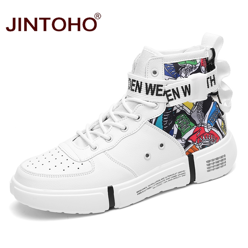JINTOHO Fashion Winter Shoes For Men Casual Winter Leather Sneakers Winter Men Boots Leather Male Boots Ankle Men Booties