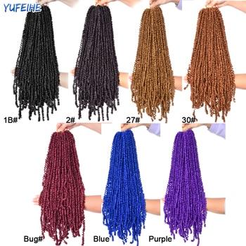 Spring Twist Locs Hair Passion Twist Crochet Hair Synthetic Braiding Hair Extensions 18Inch 100g/Pack Spring Twist Organic Hair 2