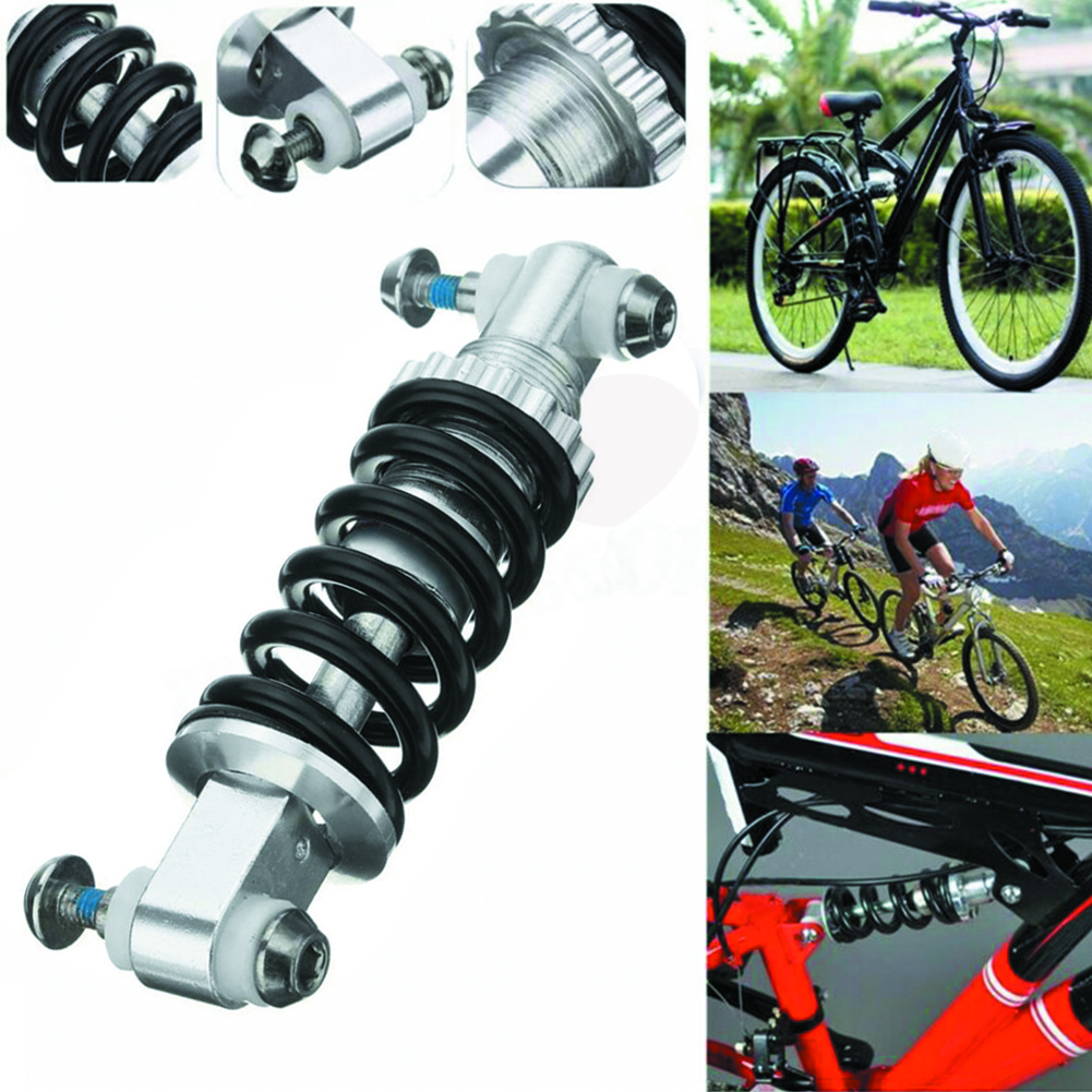 MTB Mountain Bike Metal Rear Shocks Suspension Bumper Spring Shock Absorber Bicycle Parts Rear Shock 125mm 450LBS Road Fast Ship