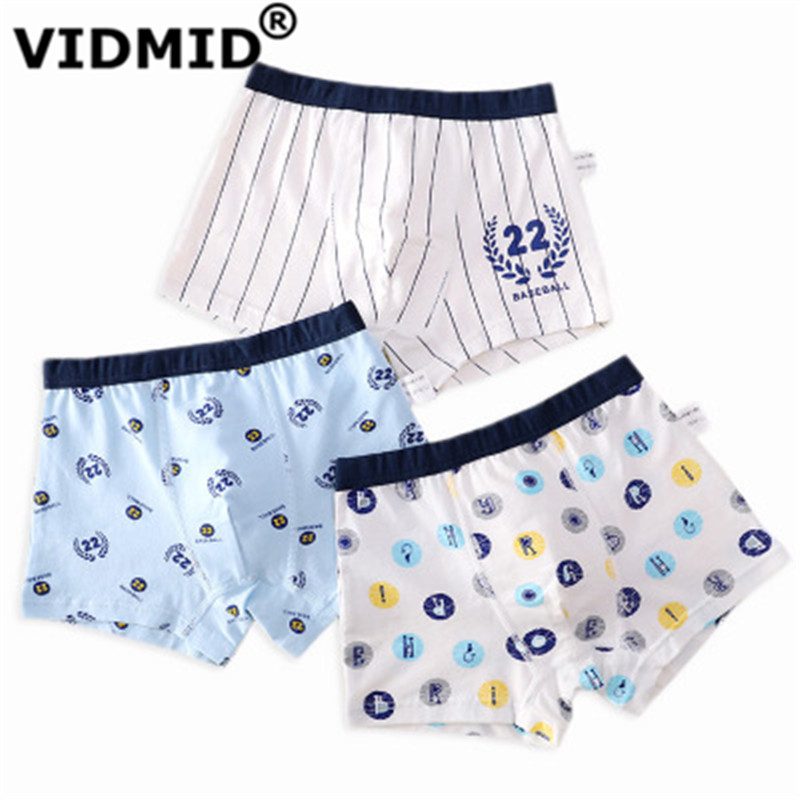 VIDMID new Baby kids  Boys Panties Cotton Underwear Boxer Underpants for boys Cartoon Children's Underwear Clothing 7130 04 1