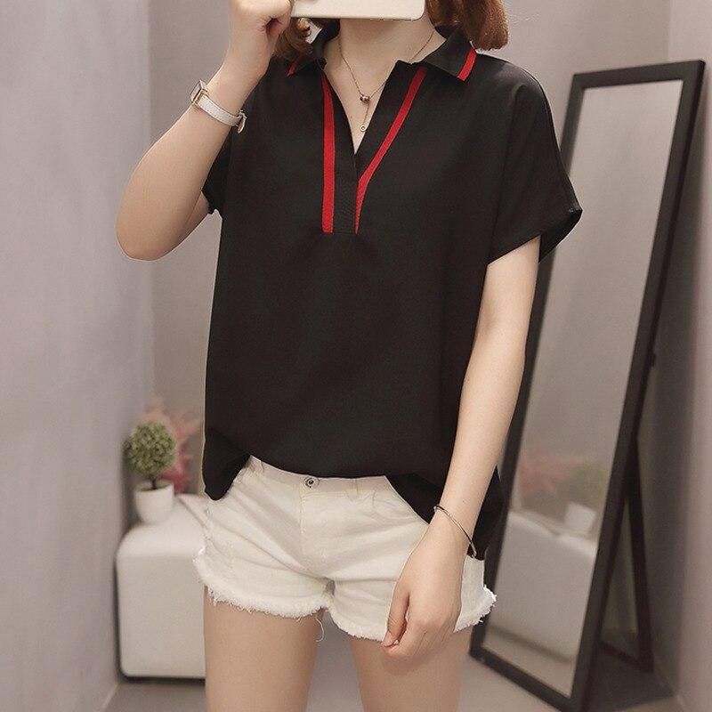 Plus Size Women Chiffon Shirts  4
