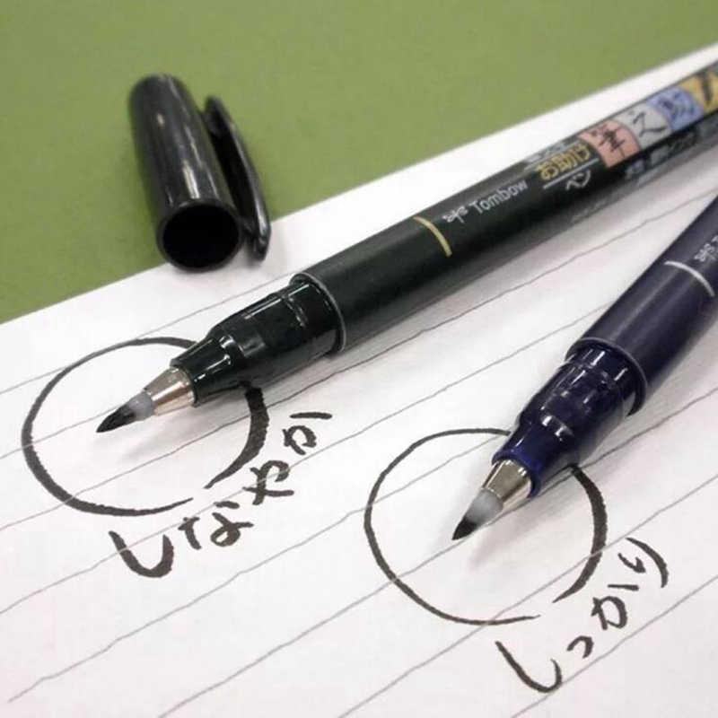 Multifunktions Pinsel Stift Kalligraphie Stift Marker Kunst Schreiben Büro Schule Lieferungen Schreibwaren Student Malerei Tombow Pinsel Stift