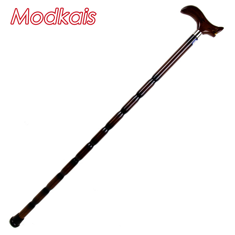 Modkais New Style Wood Walking Stick For The Elderly Wand-Line-Step Maker Anti-slip Solid Wood Crutches