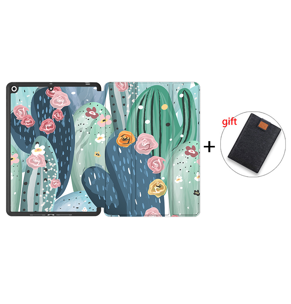 IPBC11 Gold MTT Tablet Case For iPad 10 2 7th 8th Generation 2020 TPU Back PU Leather Flip