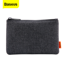 Baseusポータブル携帯電話iphone × 8 7 6 xiaomiサムスン布生地収納パッケージポーチ電話アクセサリーバッグケース