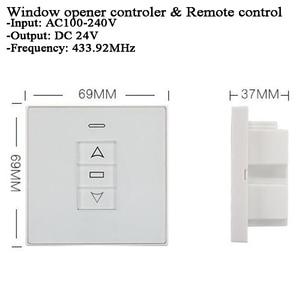 Image 4 - DC24V 220V Tuya переключатель оконной занавески Wifi 433Mhz RF пульт дистанционного управления Переключатель привода окна